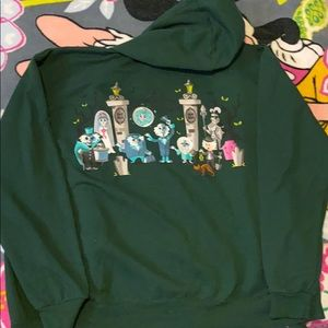 Haunted mansion zip up sweatshirt with hood large